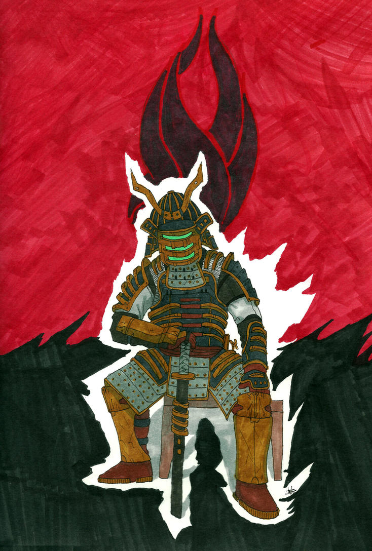 'Samurai Lost In Dead Space' by GrimmRiddle