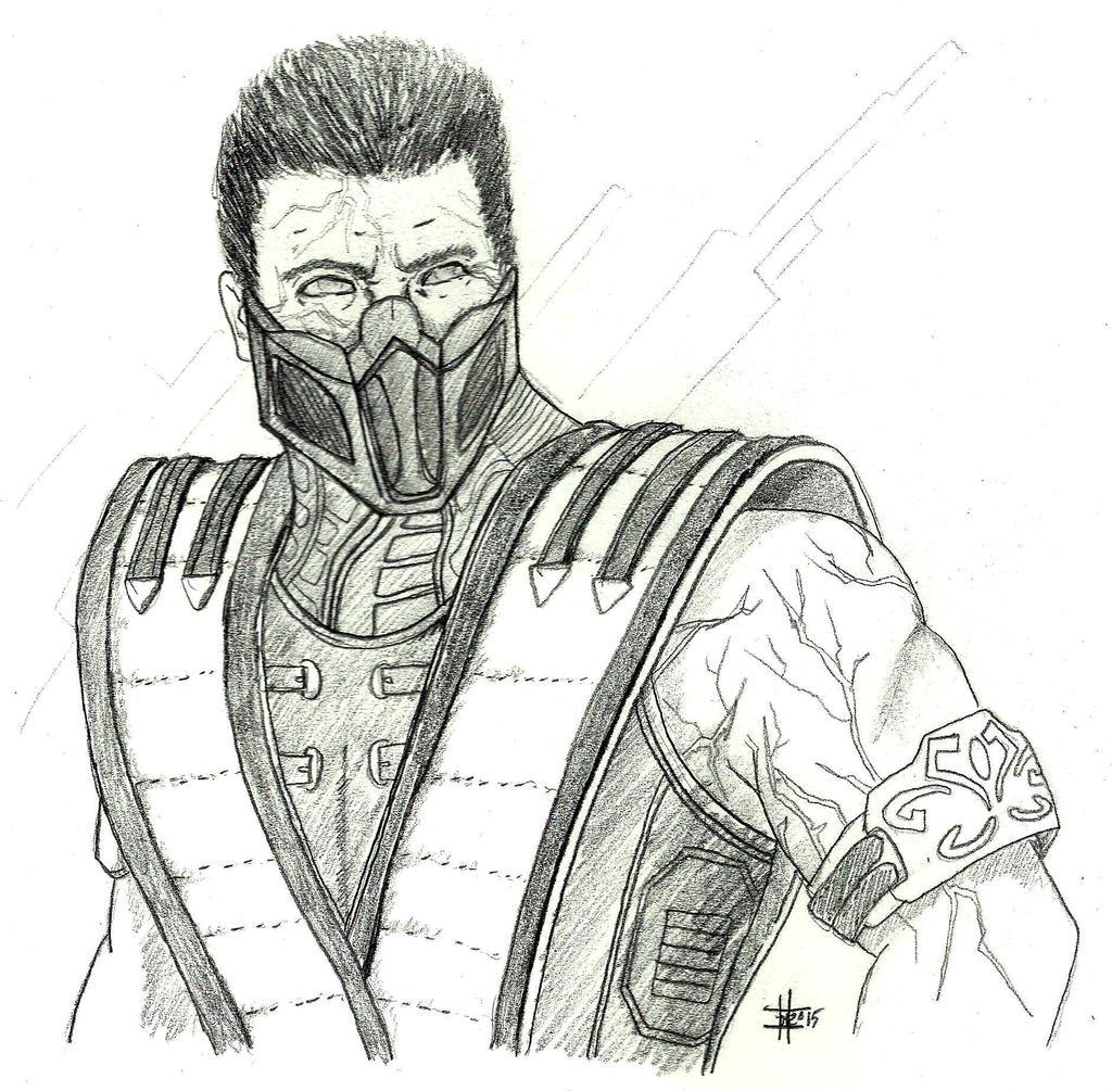 персонажи из мортал комбат х карандашом