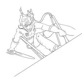 Nausicaa Line Art by KatieBrownie