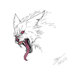 White Wolf colored