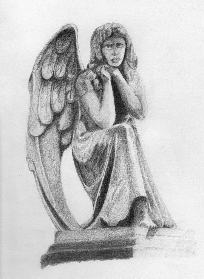 Statue Of Angel by AlnusIncana