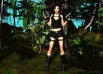 lara in jungle