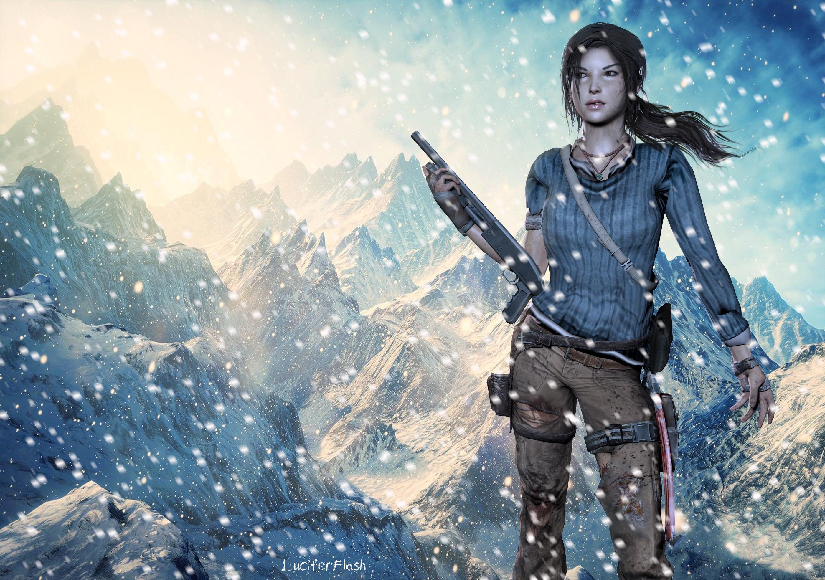 Winter Lara by luciferFlash