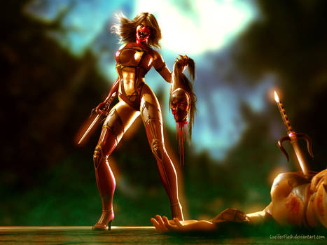 Mileena VS Kitana (morning)