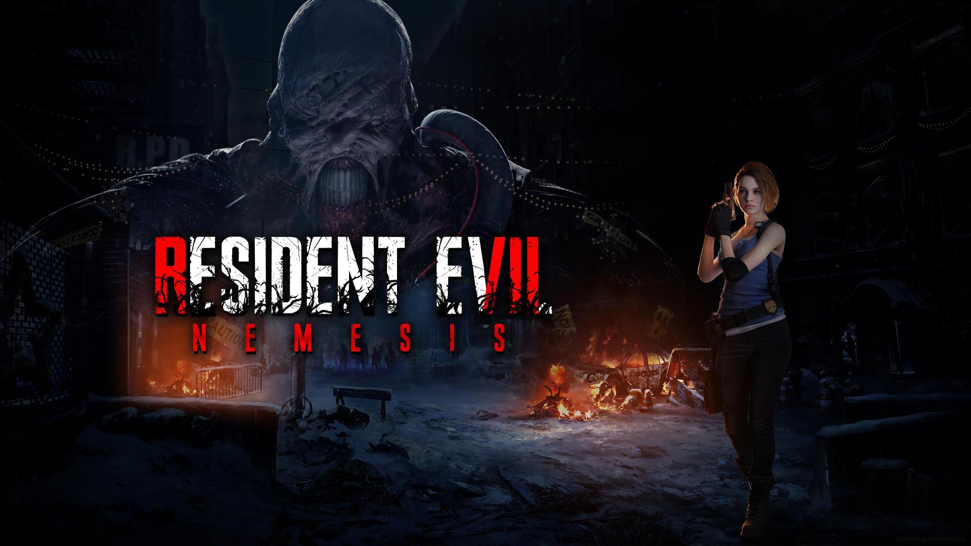 resident evil 3 remake jill wallpaper 4k