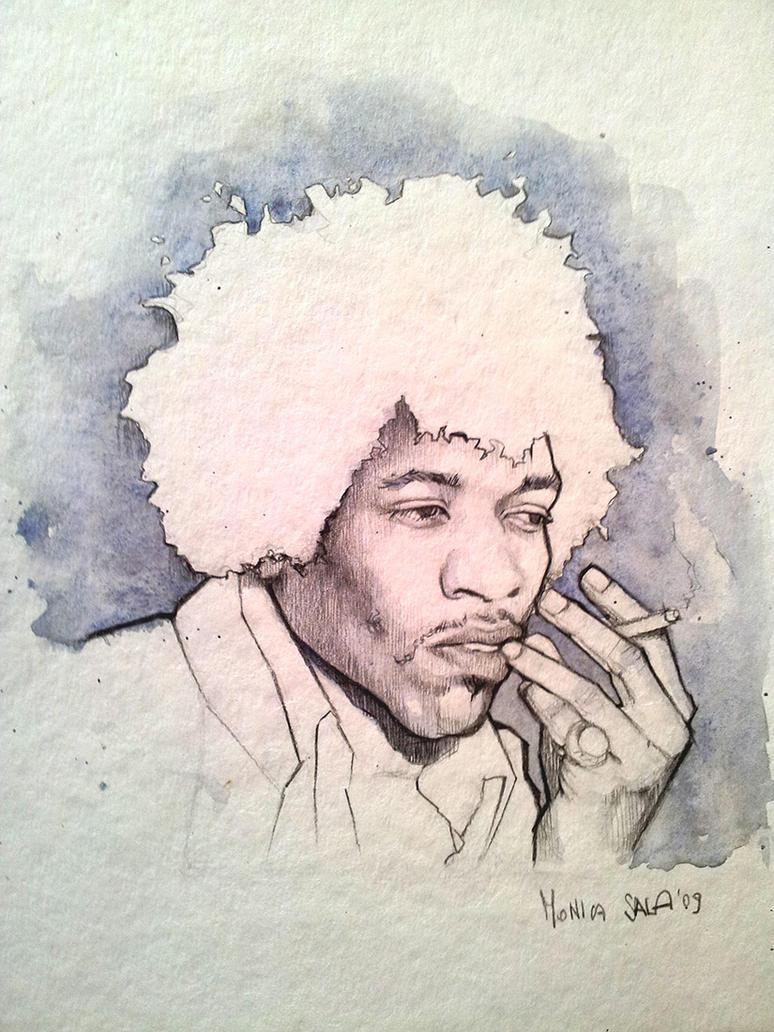 Jimi Hendrix by monyesse