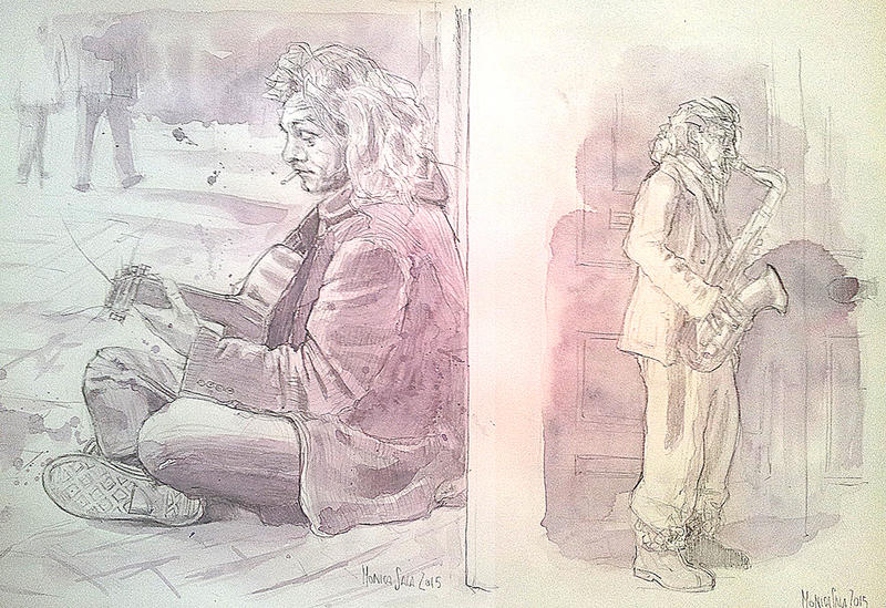Buskers by monyesse