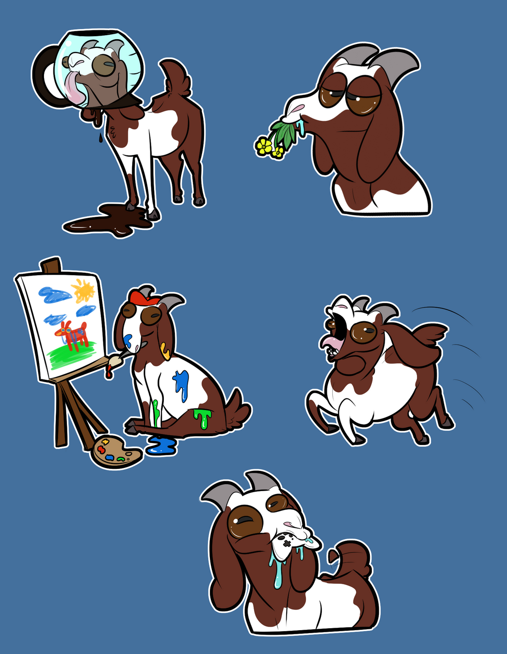 Lots of goats doing lots of goat things by StupidShepherd