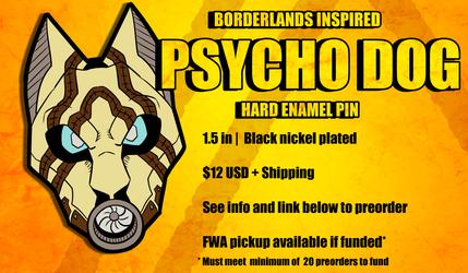 Borderlands Doggo- Enamel pin for preorder by StupidShepherd