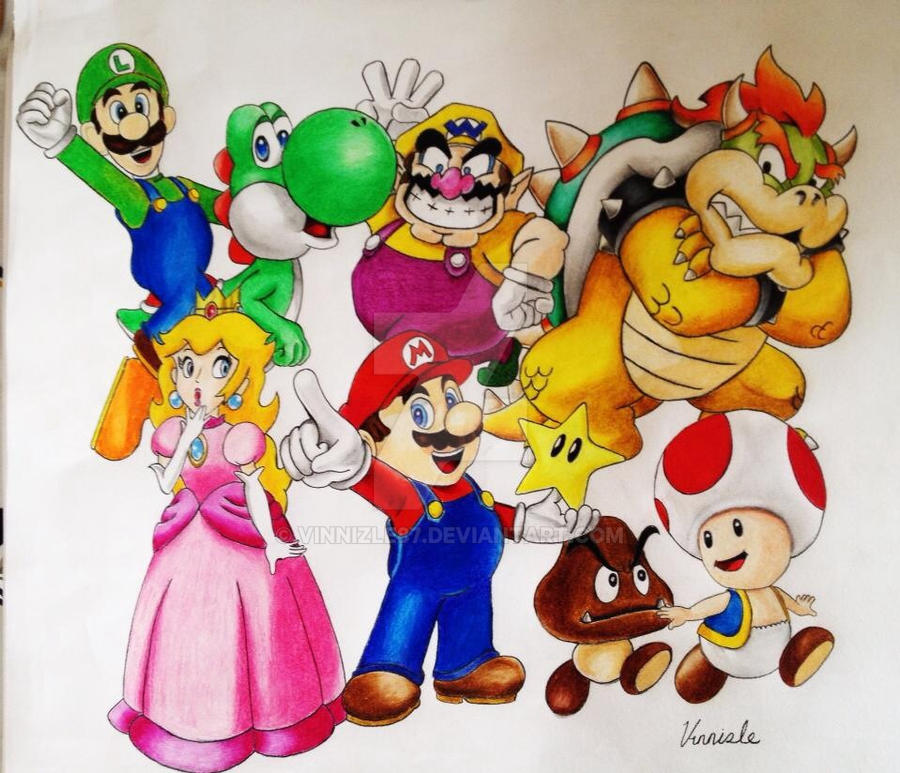 Super mario bros. by Vinnizle87