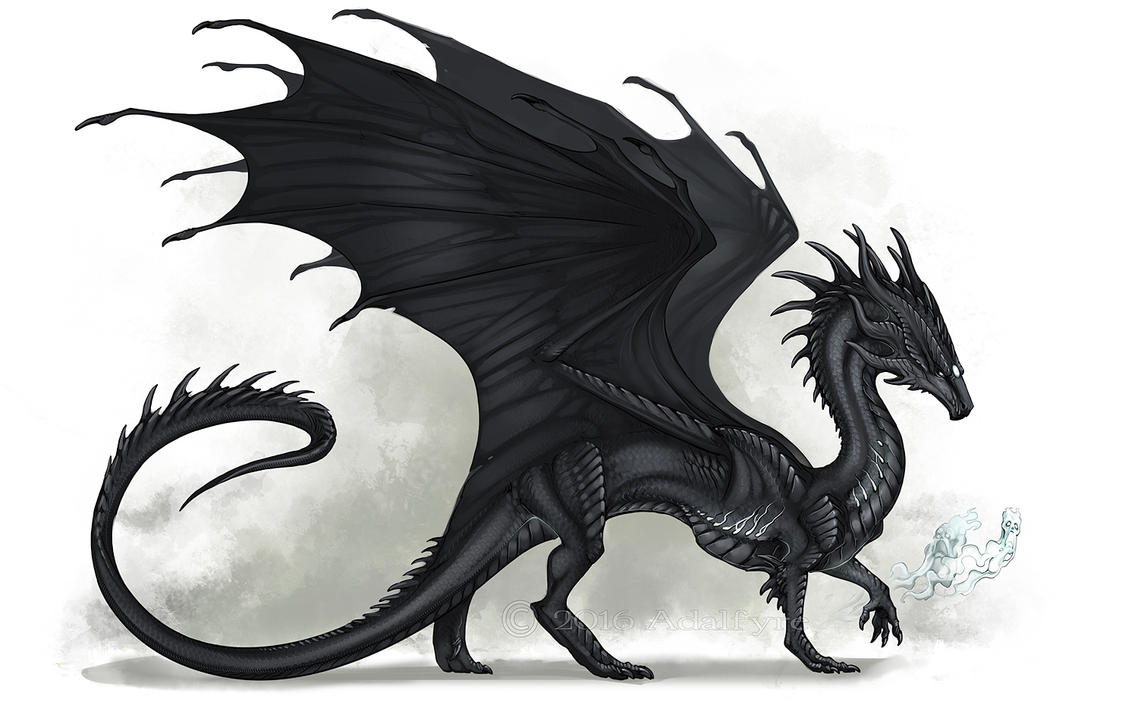 Black And Grey Dragon Paintings