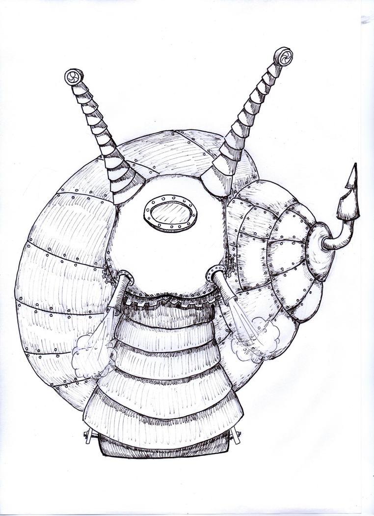 Steampunk Snail by bupple