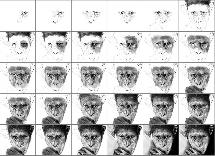 César (El planeta de los simios)  Dibujo digital