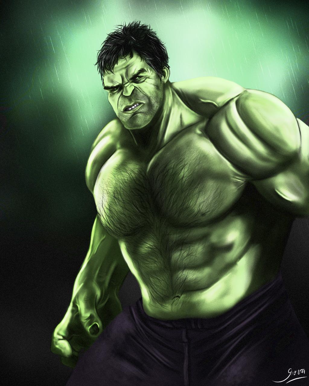 dibujo hulk: