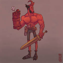 Hellboy by GiovaBellofatto