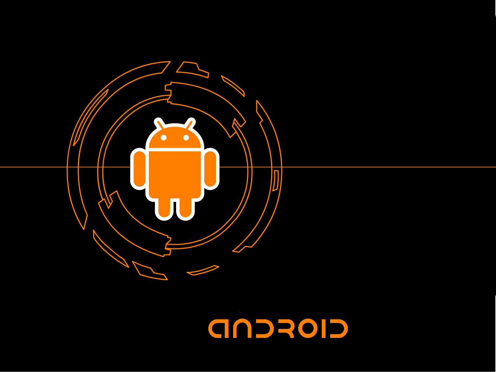 orange android wallpaper by awesomefox on deviantart