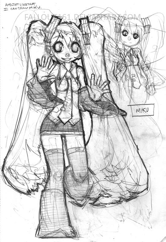 MIKU Sketch by fallout161