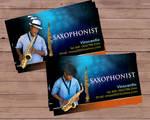 saxophonist bcard
