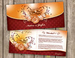 A and D wedding invitation