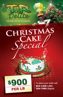 Christmas Cake Flyer