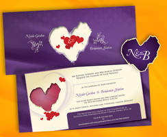 N and B wedding invite one by owdesigns