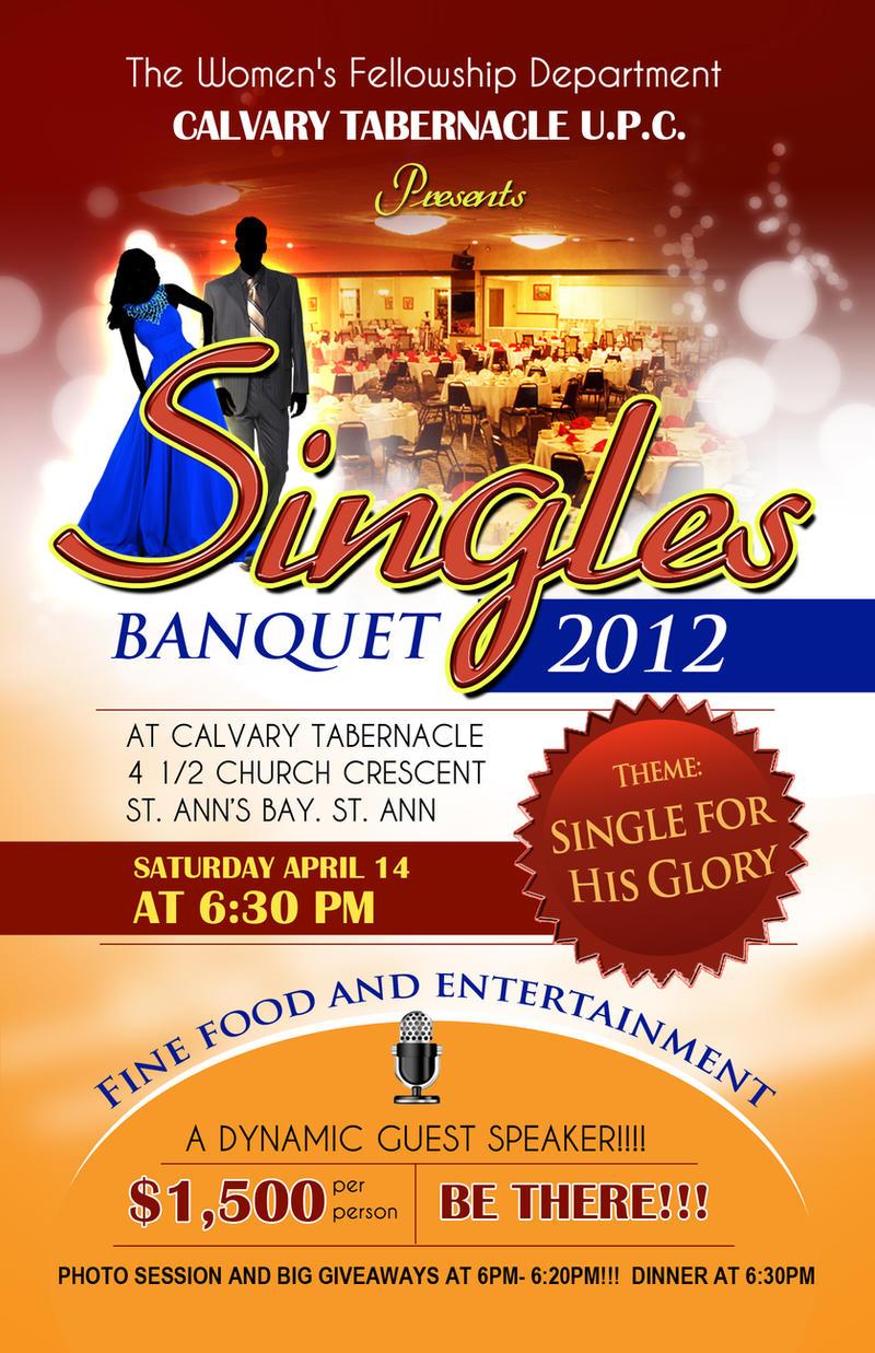 Singles banquet flyer