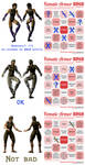 Female Armor Bingo starring my MK OCs by Simony17y