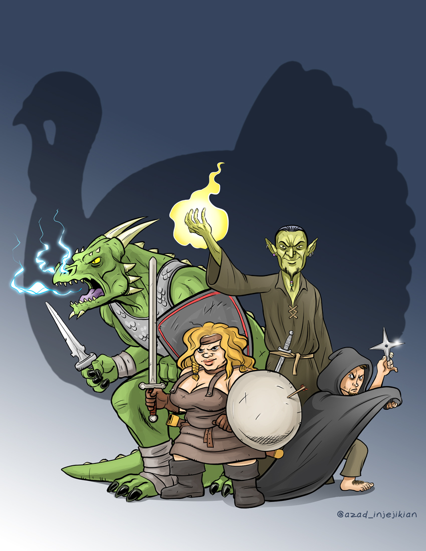 Dungeons and Dragons Podcast fanart by Azad-Injejikian on DeviantArt: azad-injejikian.deviantart.com/art/dungeons-and-dragons-podcast...