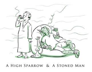 A High Sparrow and Stoned Man by Azad-Injejikian