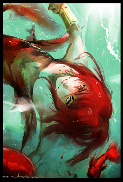 Artbook prev : Play with the mermaid by EphemeralComic