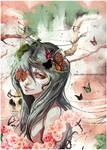 Sweet Mandragora likes butterflies