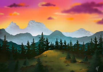 My first attempt at landscape painting