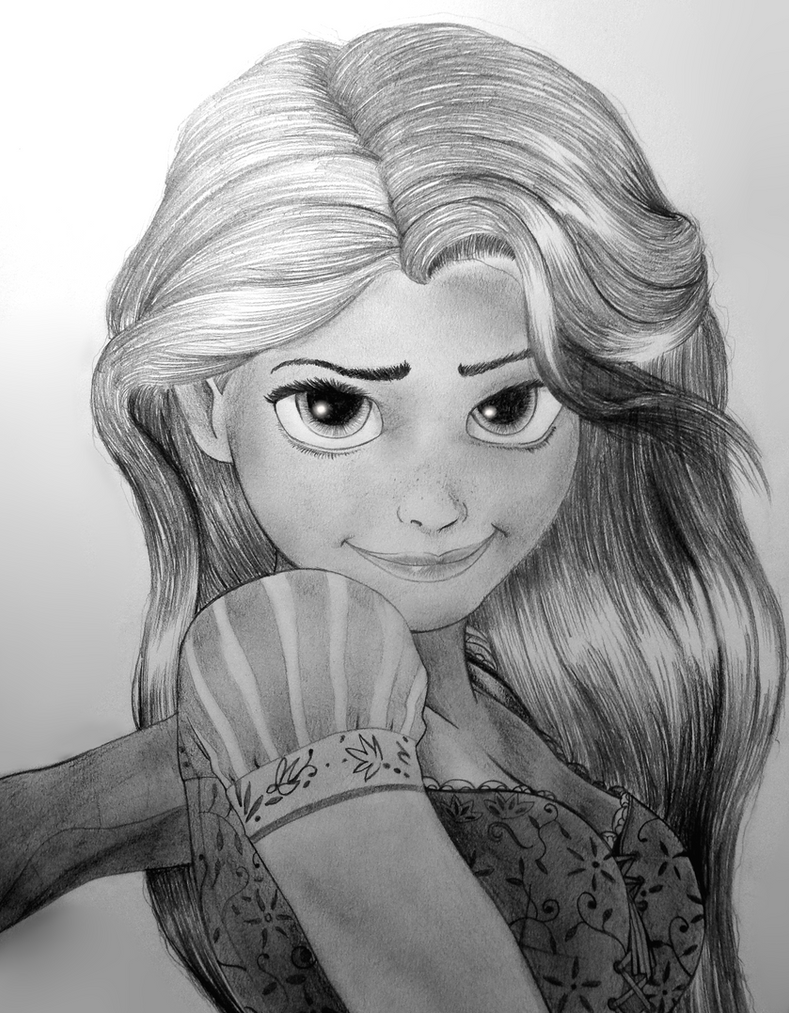 Tangled: Rapunzel by Oskar-Draws