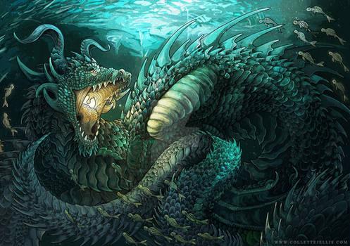 Asure Dragon