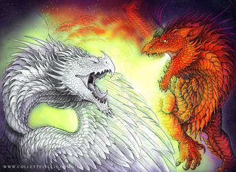 The Dragons of Dinas Emrys by FlyingViperArt