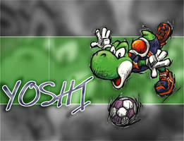 Mario Strikers: Yoshi by SillehKnilleh8D