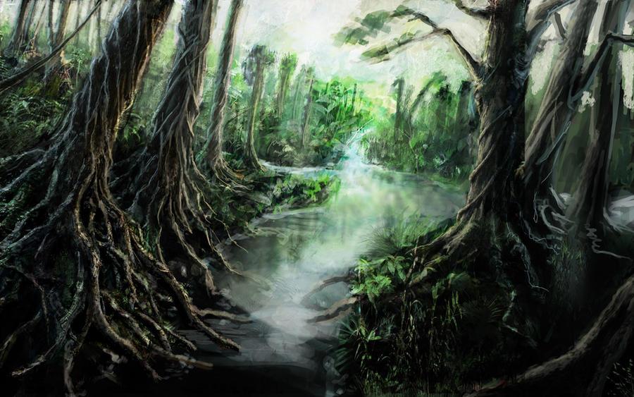Jungle River by NatMonney
