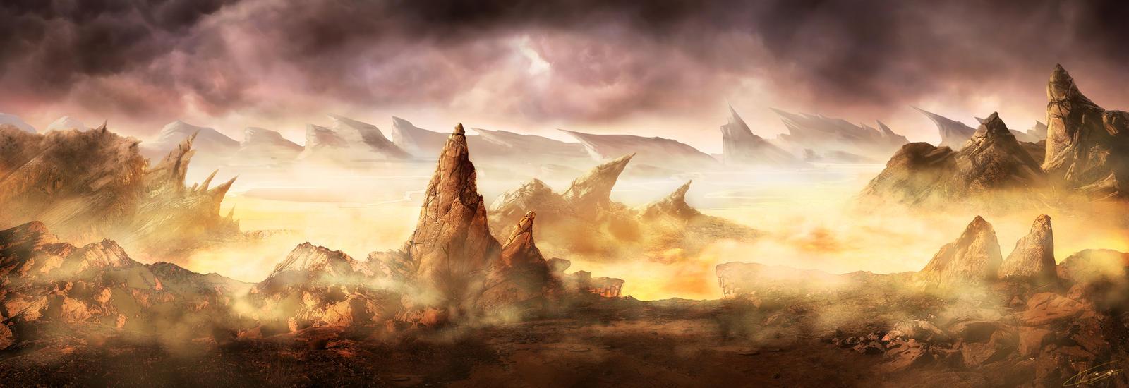 Hell's Landscape by NatMonney
