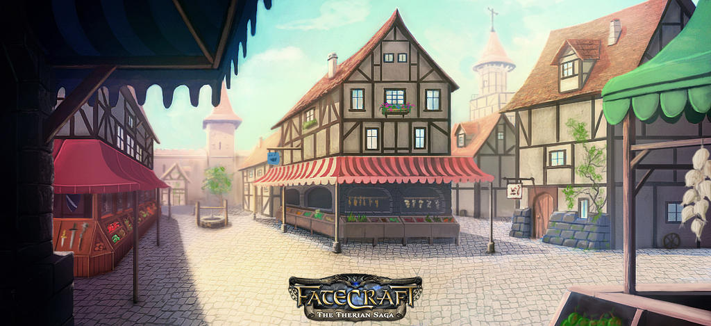 FateCraft - The Therian Saga - Market Illustration by NatMonney