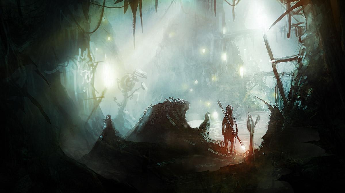 Speed Painting : The Magic Underground Lake by NatMonney
