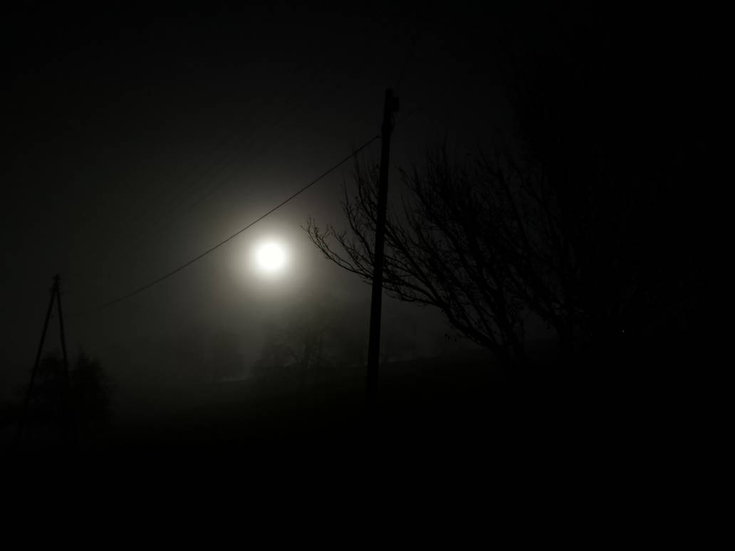 Moon and Fog by NatMonney