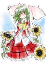 ...:sunflower lady:... by Ma-ze-ru