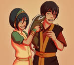 Toph making Zuko laugh