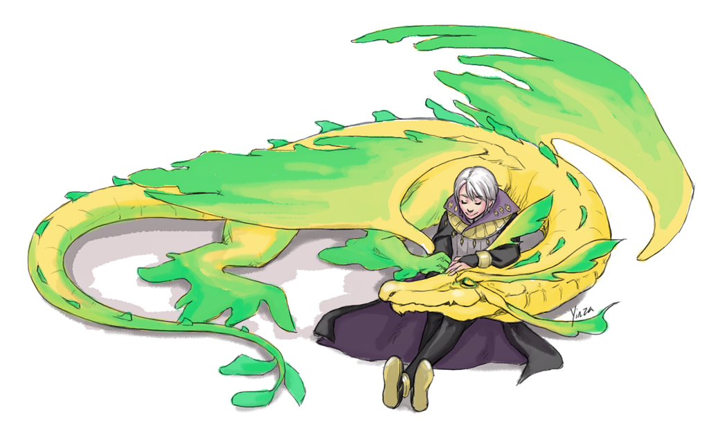 Sketch Commission - Henry x dragon!Nowi by yinza on DeviantArt