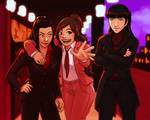 Avatar Ladies in Suits - Azula, Ty Lee + Mai