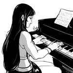 Tifa Playing the Piano