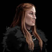 Daily Sketch #27 - Sansa Stark by yinza