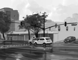 Daily Sketch #28 - Street by yinza