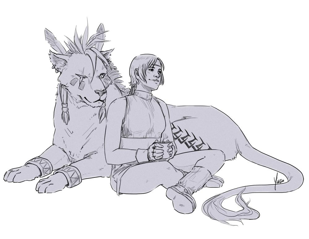 Yuffie + Nanaki