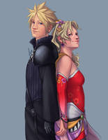 Commission - Cloud and Terra by yinza